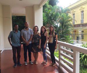 Da esquerda para direita: Jorge Martins, Igor Garcez, Hebe do Carmo, Camila Guimarães e Camilla Aquino
